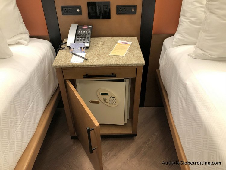 Disney Coronado Springs Resort Tips for Families the room nightstand