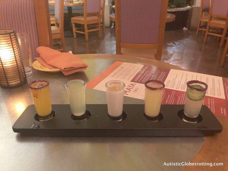 Disney Coronado Springs Resort Tips for Families margarita drinks flight