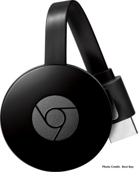 Ditch Your Cable !Get the Google Chromecast Streaming Media Player @BestBuy front side