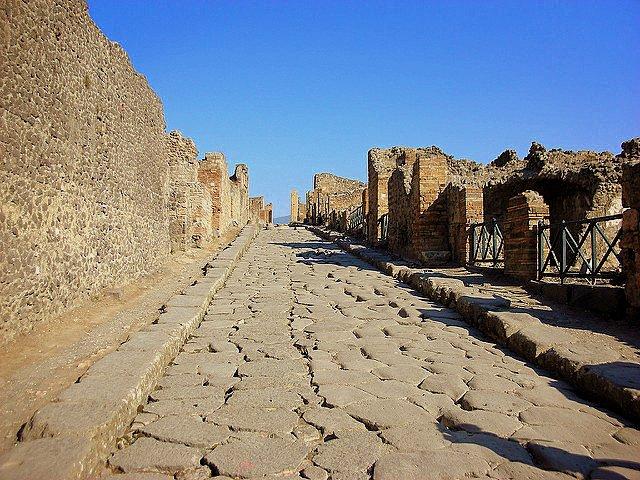 Visiting Pompeii with Autism stone
