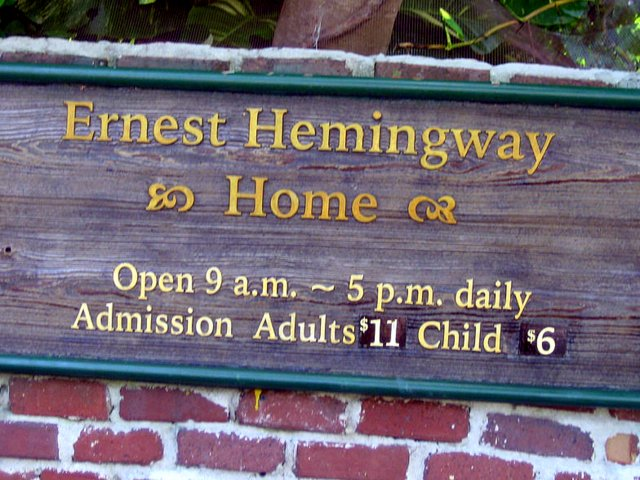 Taking Kids to the Hemingway House Museum sign