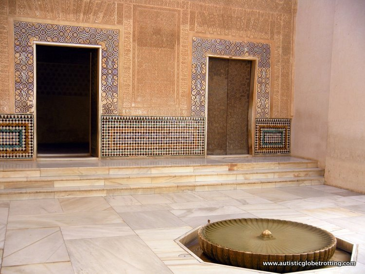 Visiting the Alhambra Palace with Family door
