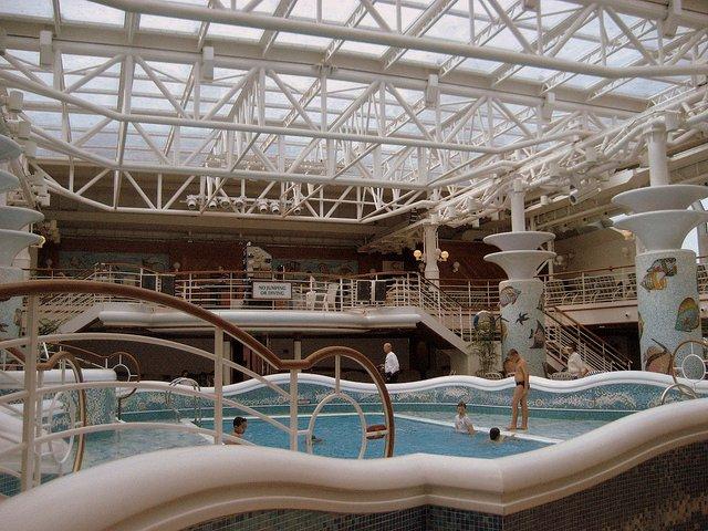 Family Fun aboard the Crown Princess pool