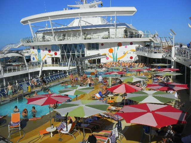 Family Cruise aboard Allure of the Seas pool
