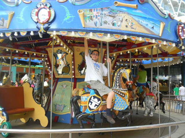 Family Cruise aboard Allure of the Seas carousel