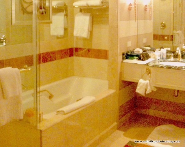 Our Stay at the Las Vegas Venetian Hotel bathroom