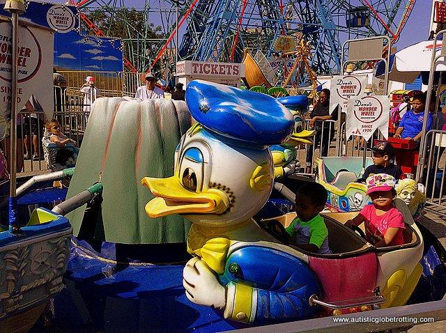 Family Fun on New York's Coney Island duck
