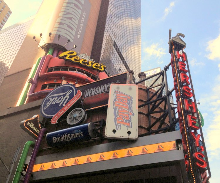 Top Five Kid Friendly Stores in NYC Times Square hersheys