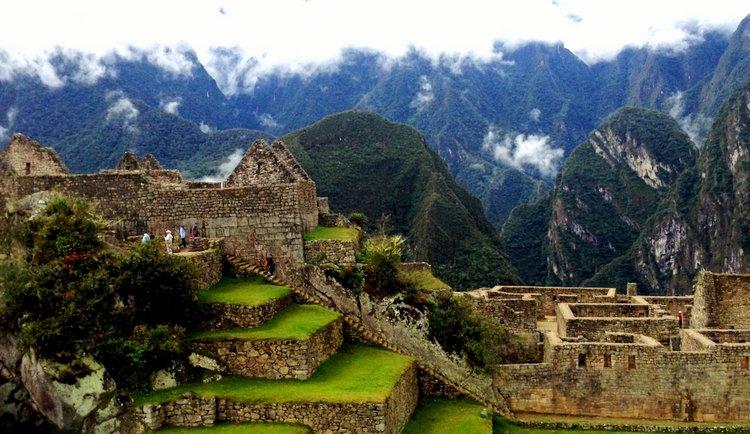 Exploring Peru's Machu Picchu with Family grass