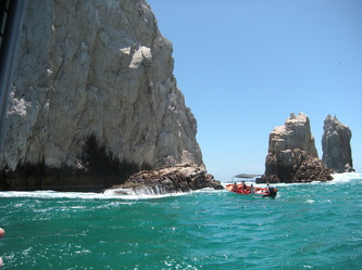 Visiting Cabo San Lucas' El Arco With Autistic Kids red boat