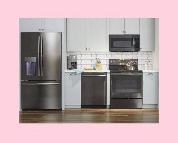 GE kitchen, GE Black Stainless Kitchen, kitchen shell