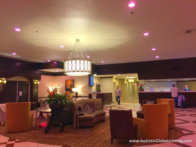 The Autism Friendly Sheraton Park at Anaheim Resort lobby