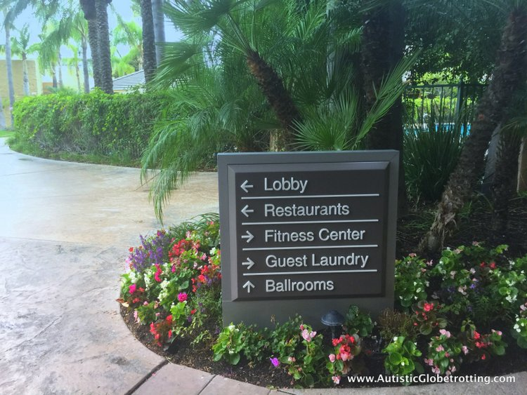 The Autism Friendly Sheraton Park at Anaheim Resort sign