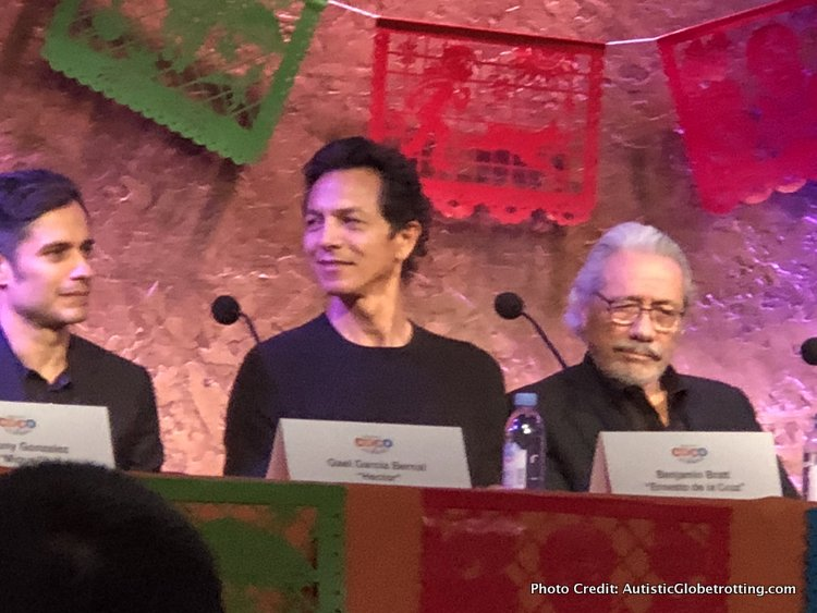Pixar's Coco Press Junket highlights Mexico's Family Traditions olmos and pratt
