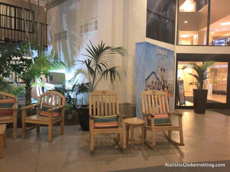 Family Friendly Fairfield Inn Anaheim rocking chairs