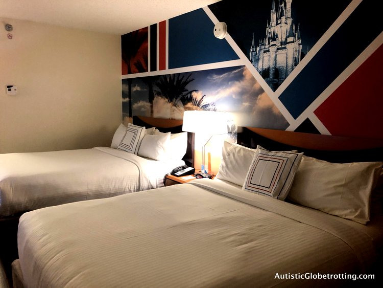 Family Friendly Fairfield Inn Anaheim queen sized beds