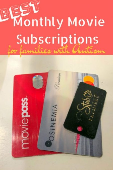 Monthly Movie Subscriptions for Families with Autism pin
