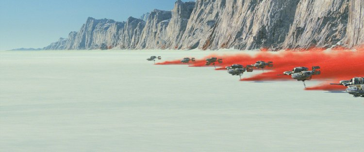 the battle ground on the planet of crait