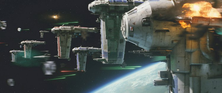 THe last jedi space ships display
