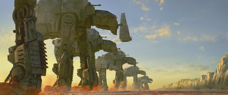 the AT-M6 walkers during the battle of Caight