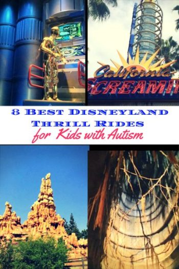 Eight Best Disneyland Thrill Rides for Kids with Autism pin