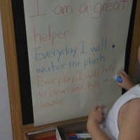 "Instilling responsiblity: ""I am a great helper"""