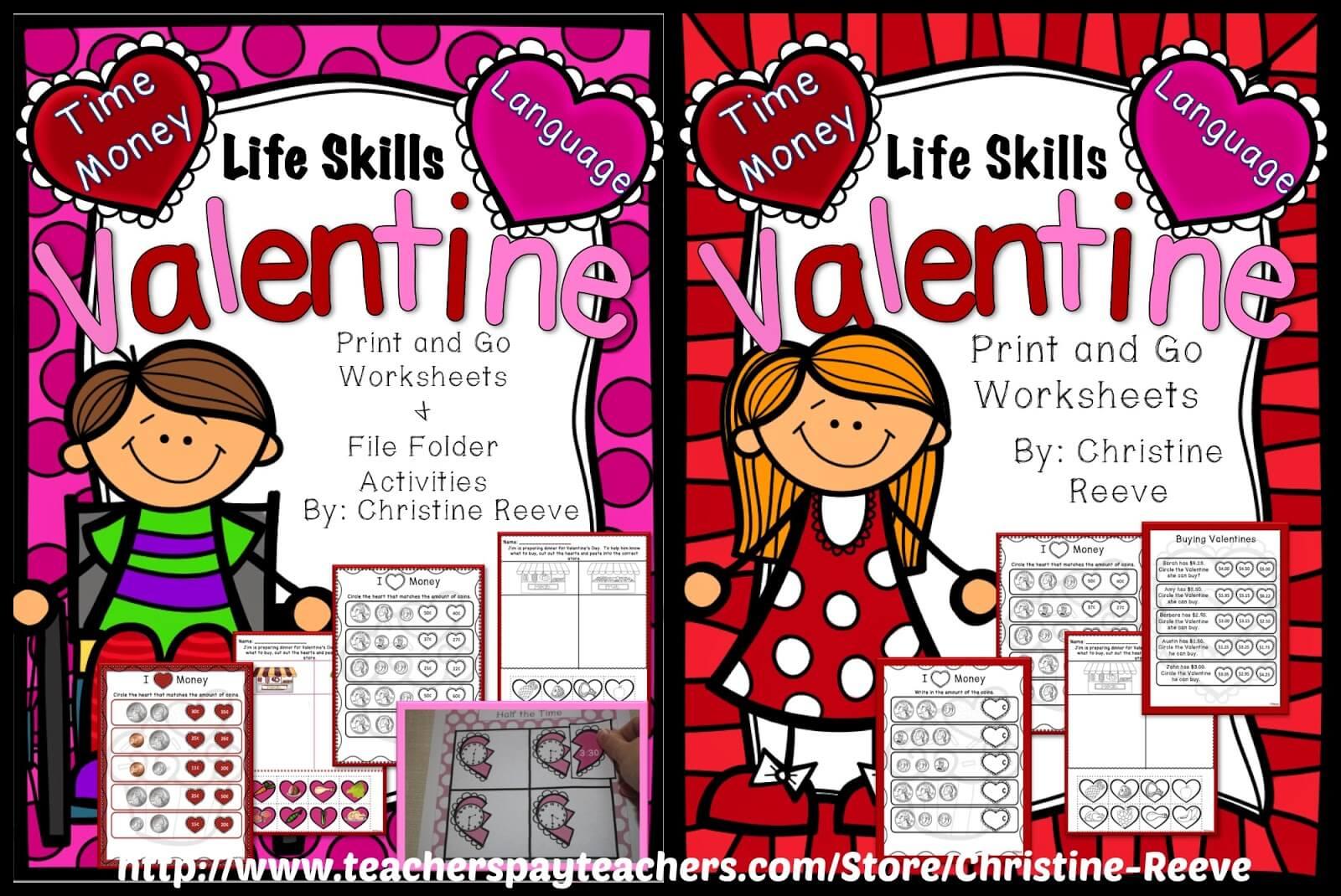 Life Skills Valentines Freebie
