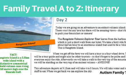 Family Holiday A to Z: Itinerary