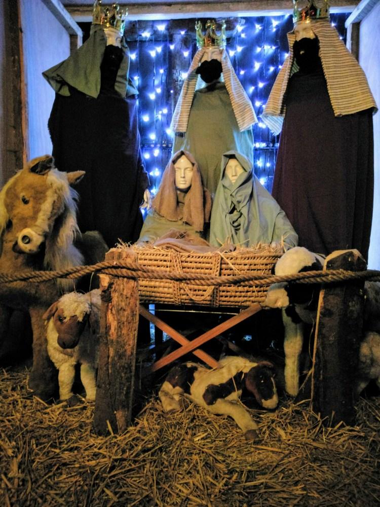 A large model nativity scene.