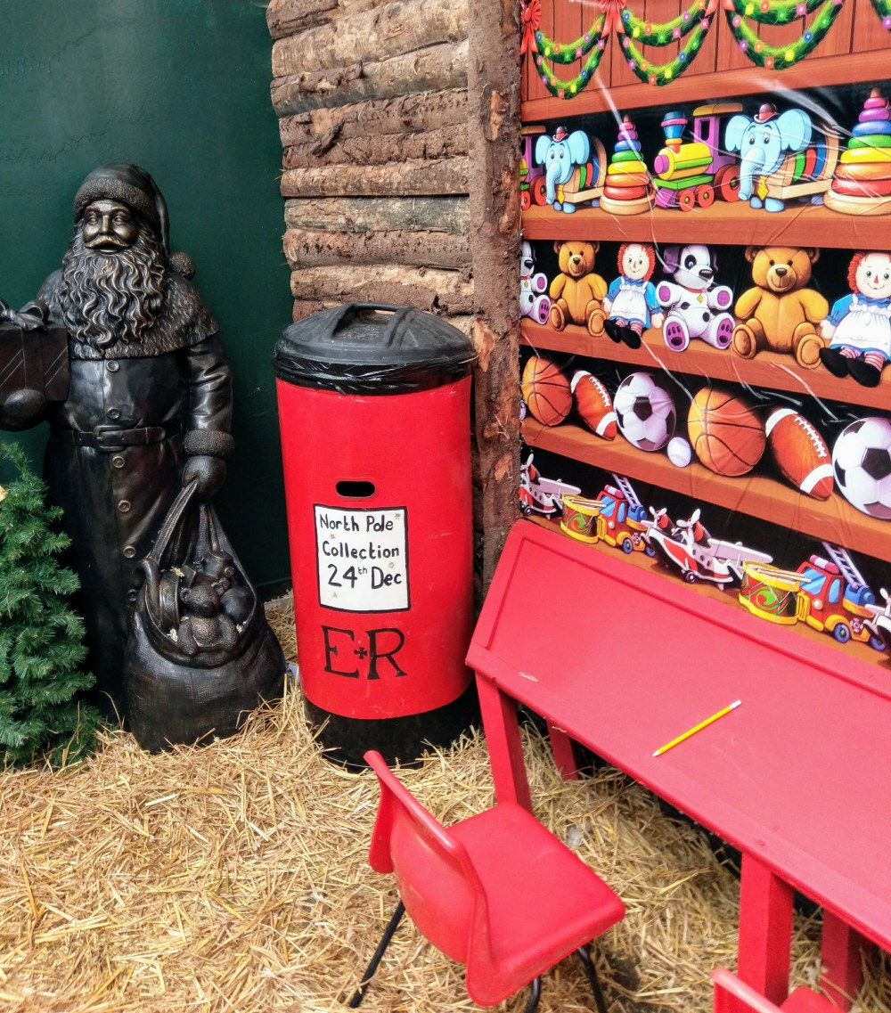 A post box to send letters to Father Christmas.