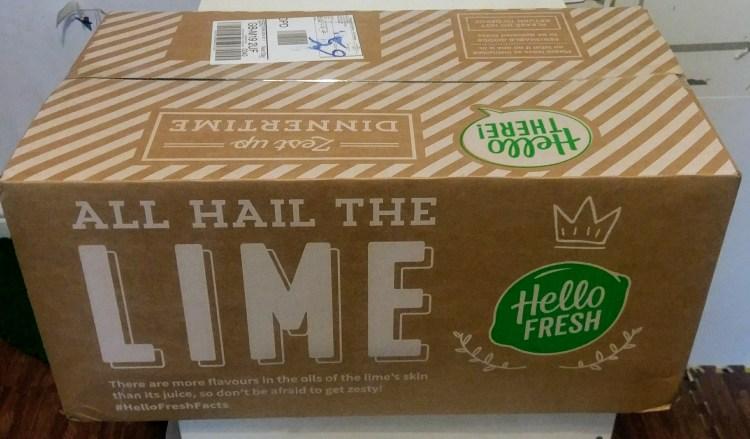A big cardboard box with