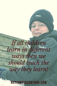 If all children learn in different ways then we should teach the way they learn!