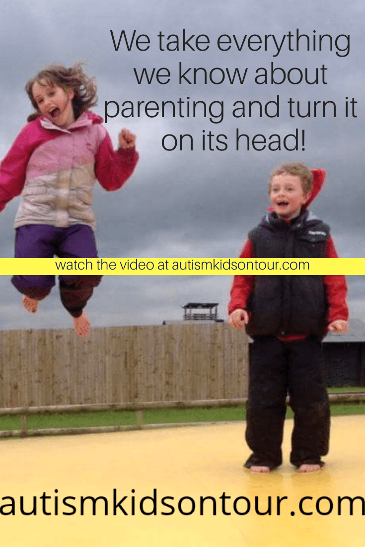 Two children jumping in the air with the words