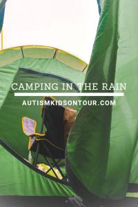 Camping in the rain!