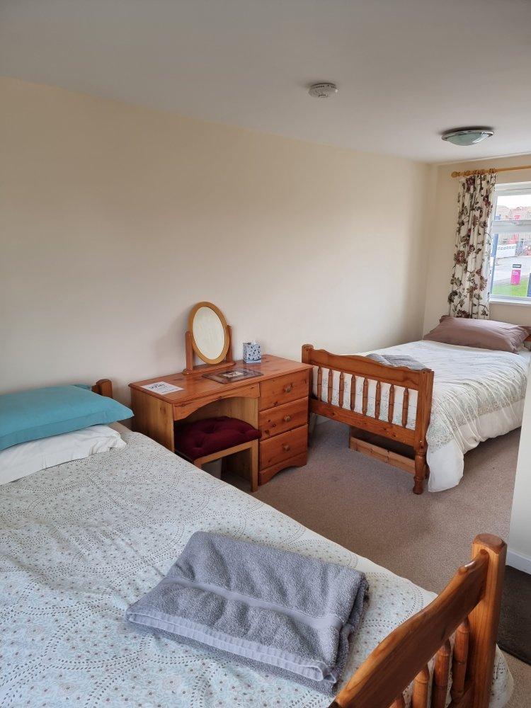 Twin bedroom at Endeavour short breaks