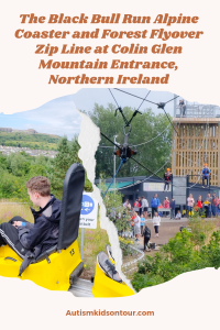 The Black Bull Run Alpine Coaster and Forest Flyover Zip Line at Colin Glen Mountain Entrance, Northern Ireland