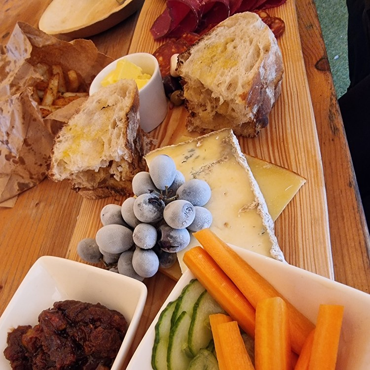 The sharing platter at Fodded cafe, Finnebrogue woods