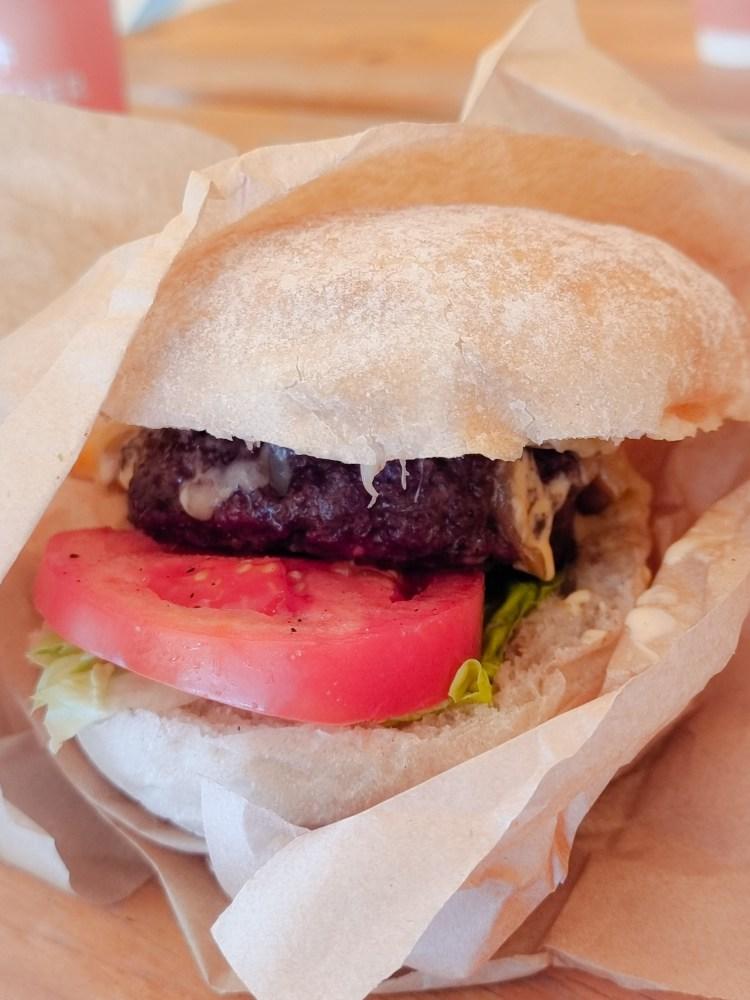 A dexter beef burger from fodder cafe at finnebrogue woods