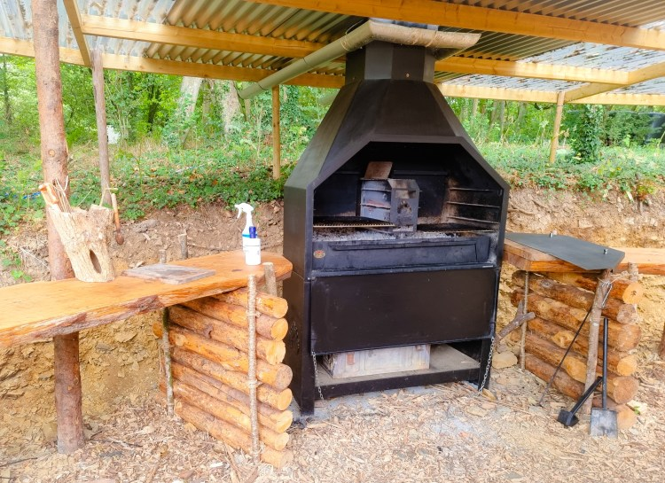 The brai at the outdoor kitchen in finnebrogue woods