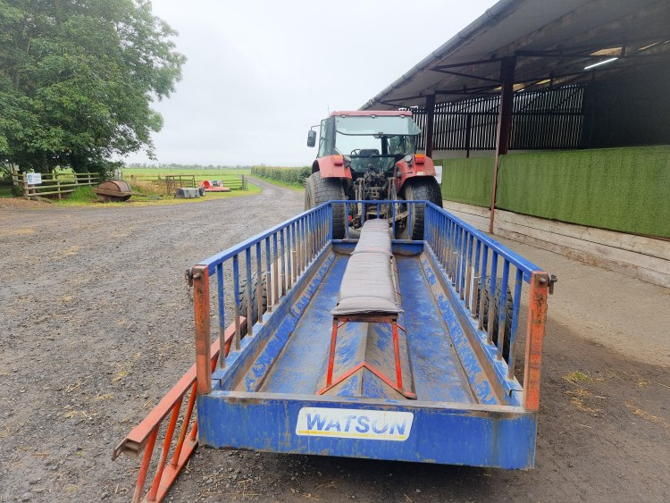The tractor and trailer  at limitless adventure center, Northern Ireland