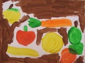 Bodegón de frutas por Víctor Mengua