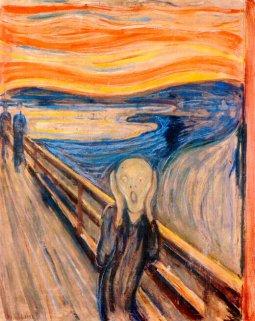 Mi hijo adora este cuadro. Lo pinta continuamente. Le pregunté por qué le gustaba tanto. Me contestó: Muchas veces yo me siento así