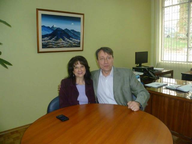 Con Yolanda Ortíz de FINE