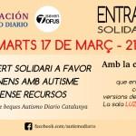 Concierto solidario el 17 de marzo  en Barcelona ¡No te lo puedes perder!