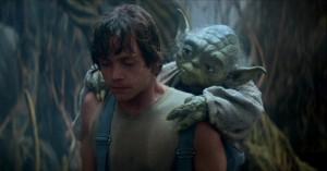 El maestro Yoda con Luke