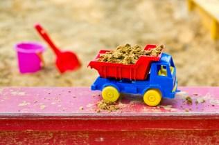 truck in the sandbox