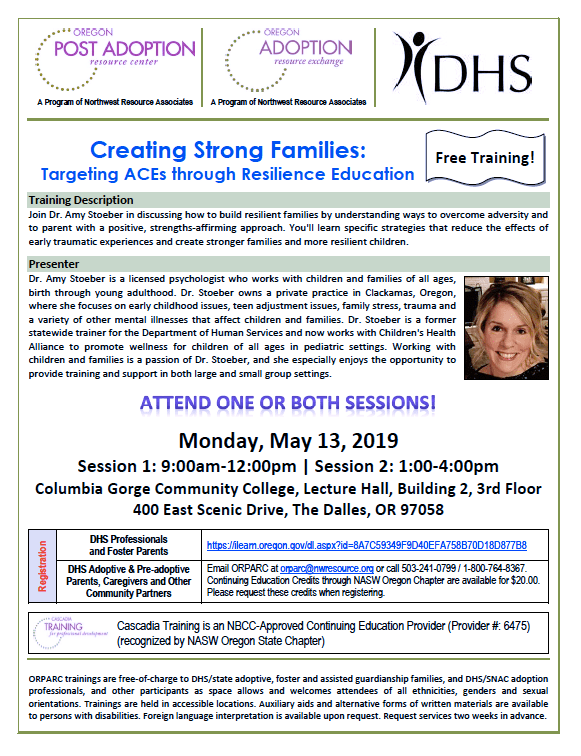 Creating Strong Families (The Dalles) – Autism Society of Oregon
