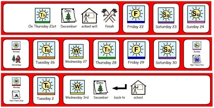 Christmas Holiday Countdown ASD Teacher