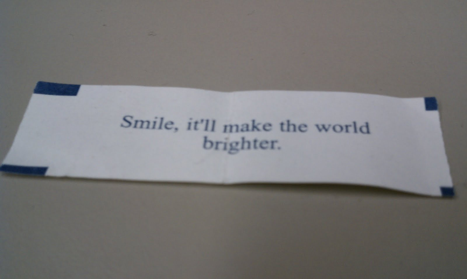 smile fortune cookie