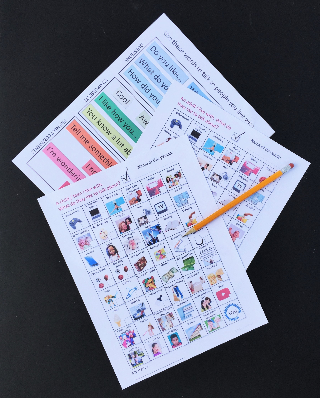 Talk To Mom Illustrated Social Skills Worksheets For